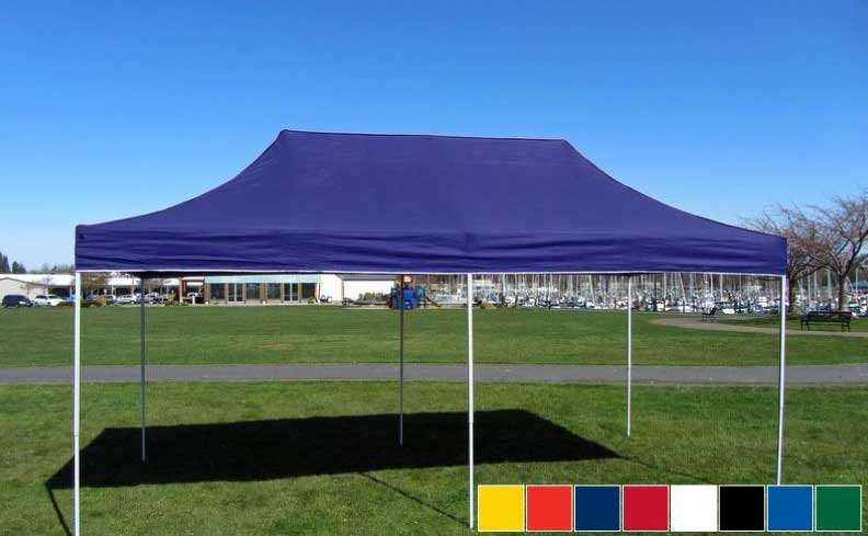 Premier Tents 10 X 20 Apex Steel Easy Pop Up Canopy Commercial