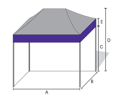 A x B Size is 20u0027 x 20u0027 ...  sc 1 st  HutShop.com & Impact Canopy Mega 20 x 20 Easy Pop Up Canopy Commercial Grade ...